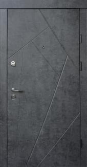 Входные двери Ультра Флеш Qdoors мрамор темный / бетон бежевый
