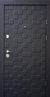 Входные двери Двери Qdoors Ультра Онтарио софт черный / белый супермат