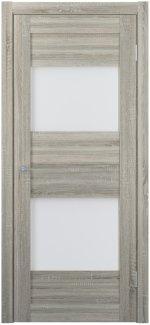 Межкомнатные двери Двери FM-02 Юнидорс Grey Sonoma стекло Сатин