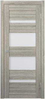Межкомнатные двери Двери FM-05 Юнидорс Grey Sonoma стекло Сатин