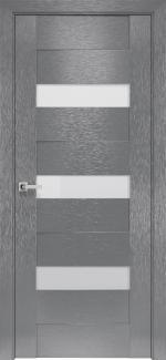Межкомнатные двери Вена Новый Стиль х-серый стекло Сатин