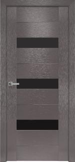 Межкомнатные двери Вена Новый Стиль х-мокко стекло черное