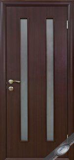 Двери Вера Новый Стиль венге DeWild со стеклом Сатин