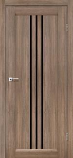 Двері Verona сіре дерево скло чорне