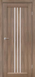 Межкомнатные двери Двері Verona Леадор сіре дерево скло Сатін
