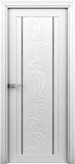 Интерьерные Двери Весна белая с молдингом