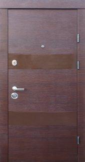Двері Qdoors Преміум Віта-М горіх горизонт з двох сторін