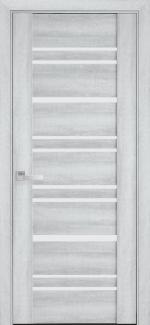 Межкомнатные двери Валенсия Новый Стиль бук кашемир стекло графит
