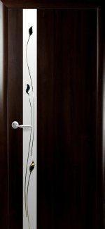 Двери Злата Новый Стиль венге Делюкс со стеклом Сатин