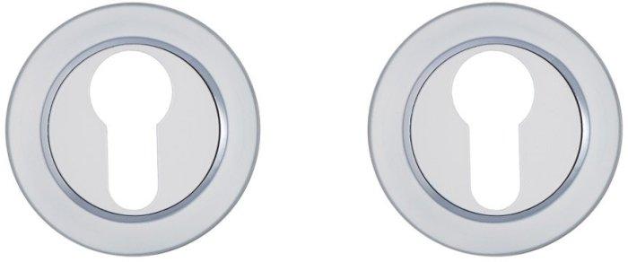 Gavroche Накладка под цилиндр A5 W/CP белый / полированный хром