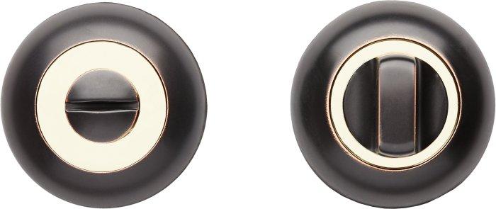 Фиксатор A5 ORB/PB черный мат с патиной / полированное золото