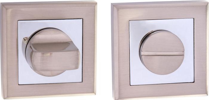 Фиксатор квадратный NS WC SN/CP матовый никель / полированный хром