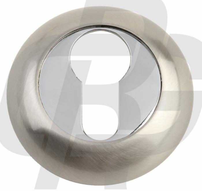 Накладка под цилиндр A5 SN/CP матовый никель / полированный хром