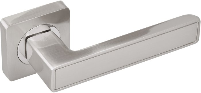 Ручки Gavroche Lanthanum SN/CP матовый никель / полированный хром - Дверные ручки — фото №1