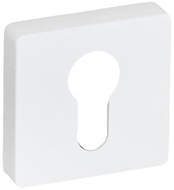 System Накладка квадратная под цилиндр AL7 белый глянец