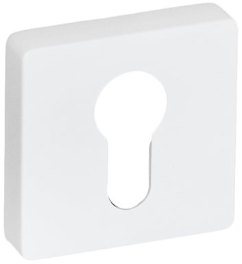 System Накладка квадратная под цилиндр AL315 белый мат