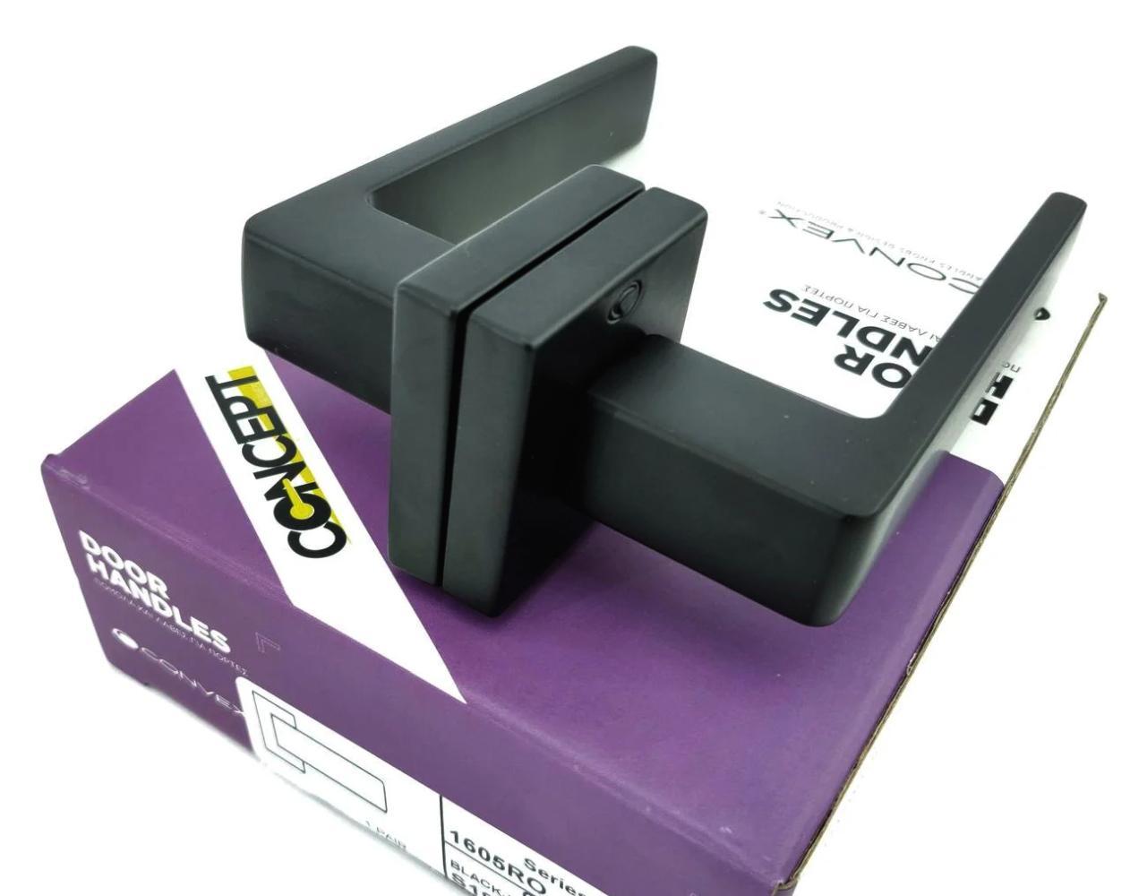 Ручки Convex 1605 черный мат - Дверные ручки — фото №1