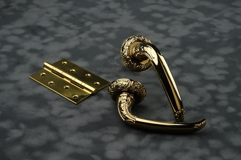 Ручки Safita R08 H025 PVD золото - Дверные ручки — фото №1
