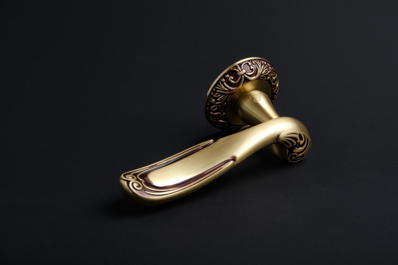Ручки Safita R08 H196 RAC золото с патиной - Дверные ручки — фото №1