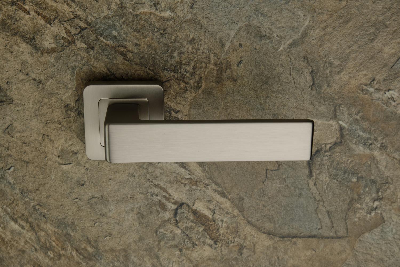 Ручки Safita Prime SQ MSN матовый сатин никель - Дверные ручки — фото №2