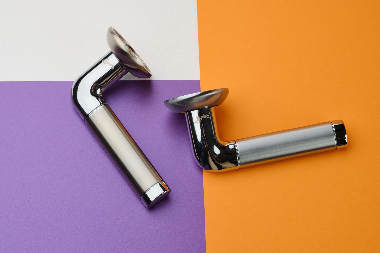 Ручки Safita R14 H096 SC/CP матовый хром / полированный хром - Дверные ручки — фото №2