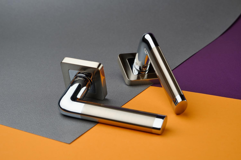 Ручки Safita Space SQ SN/CP матовый никель / полированный хром - Дверные ручки — фото №2