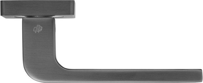 Ручки Gavroche Californium MBN/CP графит матовый / полированный хром - Дверные ручки — фото №3