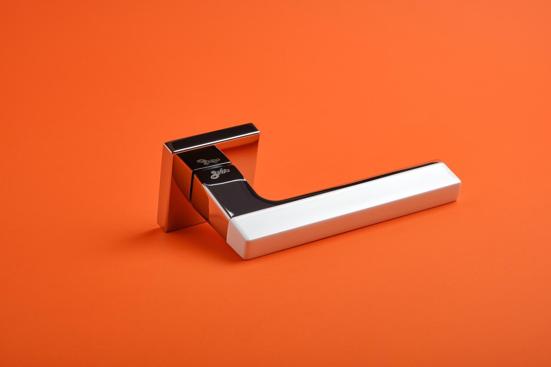 Ручки Safita Combo HT WP/CP белый / полированный хром - Дверные ручки — фото №3