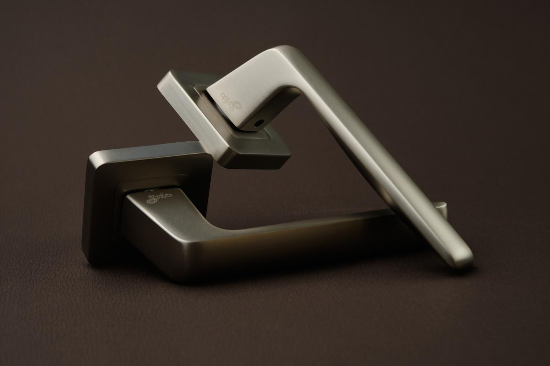 Ручки Safita Delicate SQ MSN матовый сатин никель - Дверные ручки — фото №3