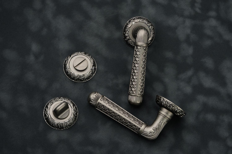 Ручки Safita R08 H195 BB античное серебро - Дверные ручки — фото №3