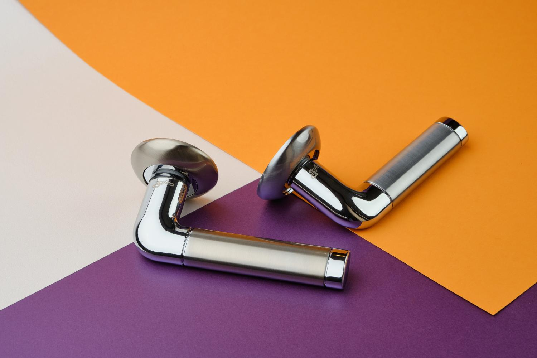 Ручки Safita R14 H096 SC/CP матовый хром / полированный хром - Дверные ручки — фото №3