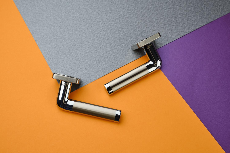 Ручки Safita Space SQ SN/CP матовый никель / полированный хром - Дверные ручки — фото №3