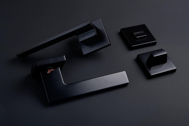Ручки Safita Step HT FB черный мат - Дверные ручки — фото №3
