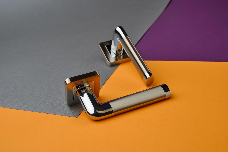 Ручки Safita Space SQ SN/CP матовый никель / полированный хром - Дверные ручки — фото №4