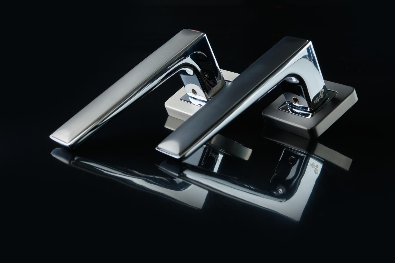 Ручки Safita Twin SQ MSN/CP матовый сатин никель / полированный хром - Дверные ручки — фото №4