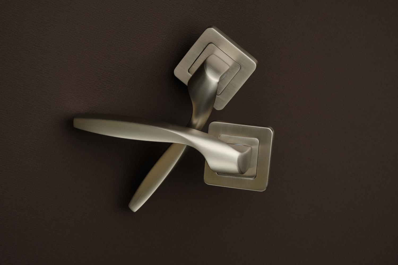 Ручки Safita Twist SQ MSN матовый сатин никель - Дверные ручки — фото №4