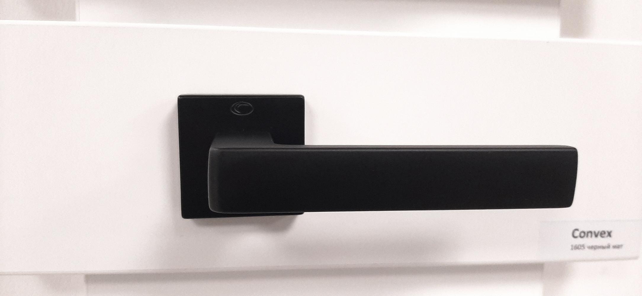 Ручки Convex 1605 черный мат - Дверные ручки — фото №5