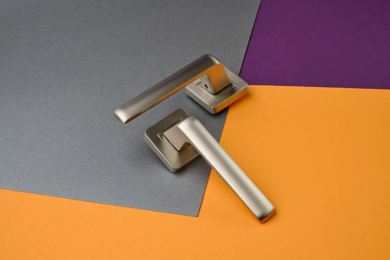 Ручки Safita Delicate SQ MSN матовый сатин никель - Дверные ручки — фото №5