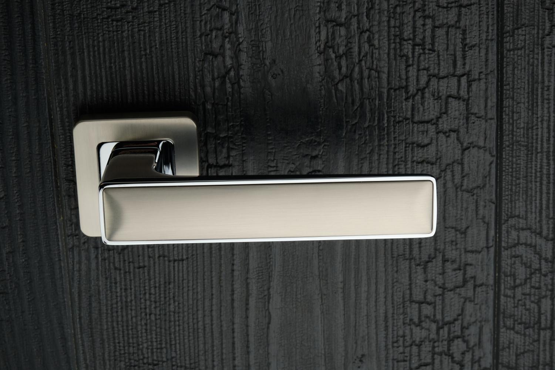 Ручки Safita Twin SQ MSN/CP матовый сатин никель / полированный хром - Дверные ручки — фото №5
