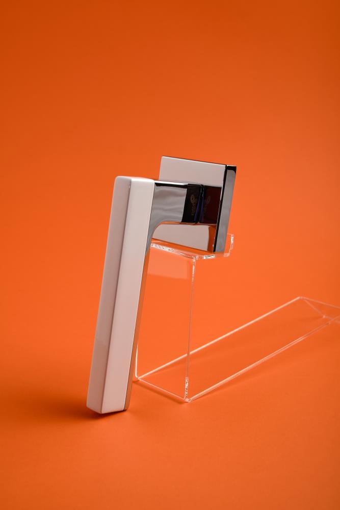 Ручки Safita Combo HT WP/CP белый / полированный хром - Дверные ручки — фото №6