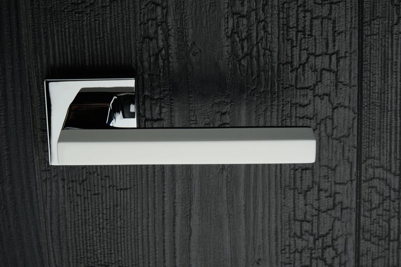 Ручки Safita Combo HT WP/CP белый / полированный хром - Дверные ручки — фото №8