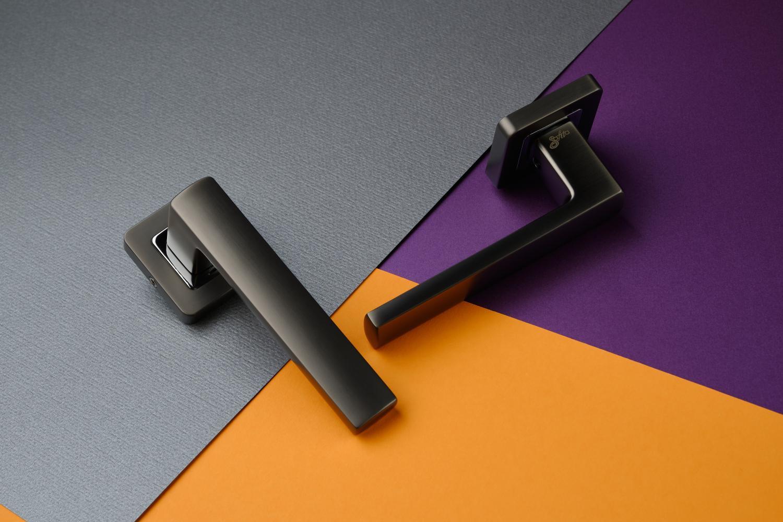 Ручки Safita Strong SQ MSB/CP графит матовый / полированный хром - Дверные ручки — фото №8