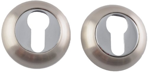 Siba Накладка под цилиндр матовый никель / полированный хром