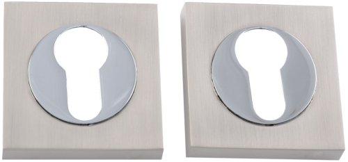 Siba Накладка квадратная под цилиндр матовый никель / полированный хром