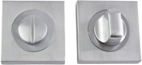 Фиксатор квадратный матовый никель / полированный хром