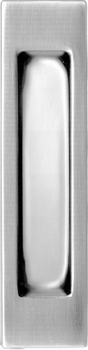 Прямоугольная ручка для раздвижных дверей Quadro ЮСК серебро