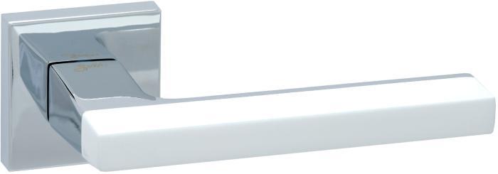 Ручки Safita Combo HT WP/CP белый / полированный хром - Дверные ручки — фото №1