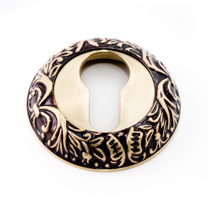 Накладка под цилиндр для ручки Ручки Safita R08 H196 RAC золото с патиной