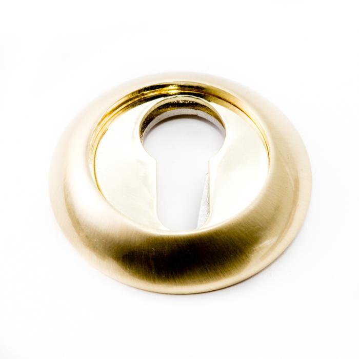 Safita Накладка под цилиндр PZ R14 матовое золото / полированное золото