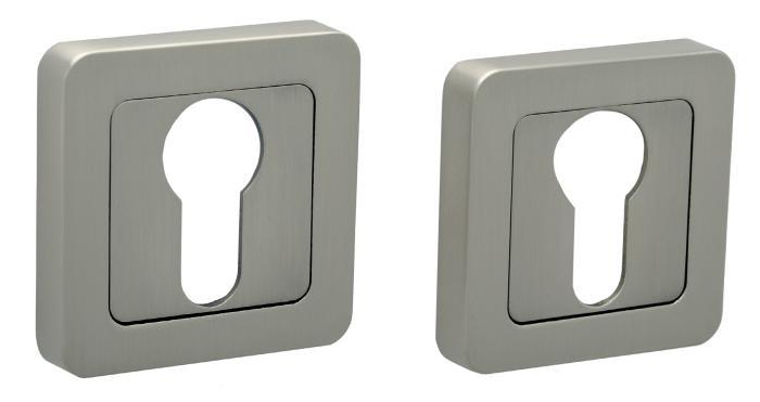 Накладка квадратная под цилиндр PZ R40 MSN матовый сатин никель